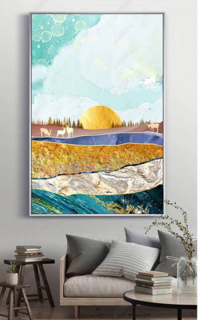 """Картина постер """"Абстрактное солнце"""""""
