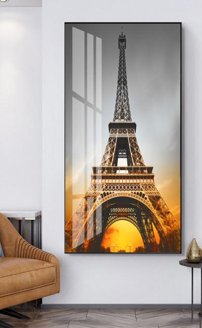 """Картина постер в гостиную """"Закат в Париже"""""""