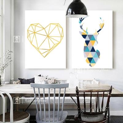 """Картина в скандинавском стиле """"Сердце оленя"""""""