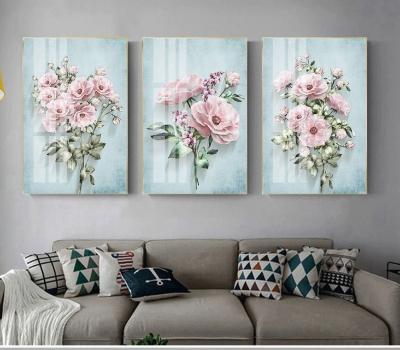 """Картина из трех частей """"Цветочное трио"""""""