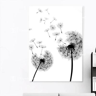 """Картина интерьерная  черно белая """"Одуванчики"""""""