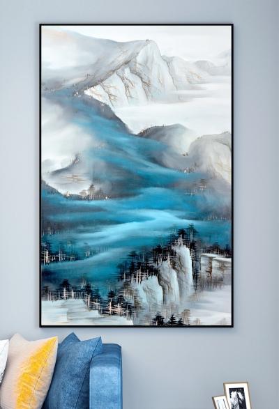 """Картина постер с золотом  """"Небесные горы"""""""