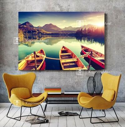 """Картина постер в желтом цвете """"Природная колыбель"""""""