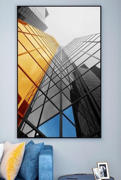 """Картина в офис под стеклом """"Геометрические линии"""""""