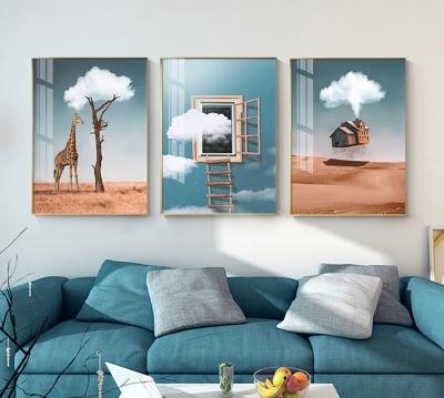 """Картина из трех частей """"Облачко"""""""