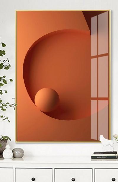 """Картина постер """"Оранжевый объем"""""""