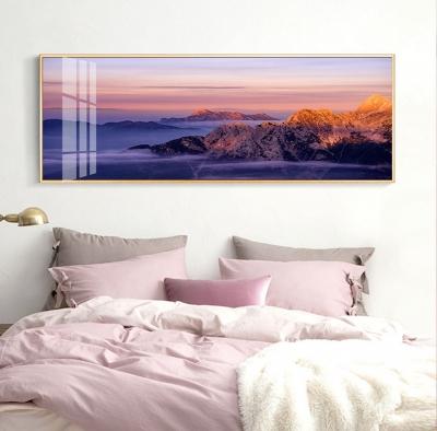 """Картина горизонтальная над диваном """"Фиолетовый закат"""""""