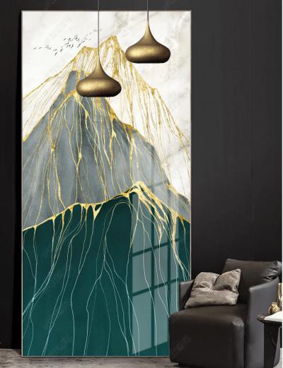 """Картина абстрактная """"Золотые горы"""""""