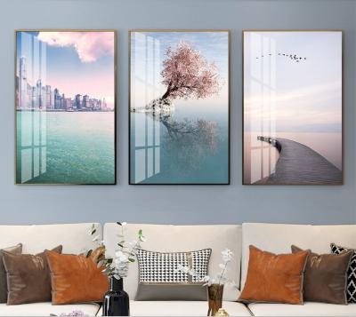 "Картина из трех частей над диваном ""Природное трио"""