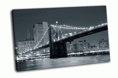 Бруклинский мост и небоскребы