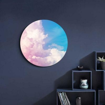 Круглая картина на холсте Облако