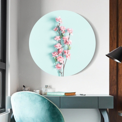 Кругла картина Нежные цветы