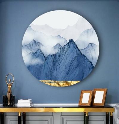 "Картина круглая ""Прозрачные горы"""