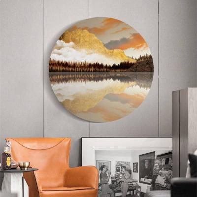 "Картина на круглом холсте ""Осенние цвета"""