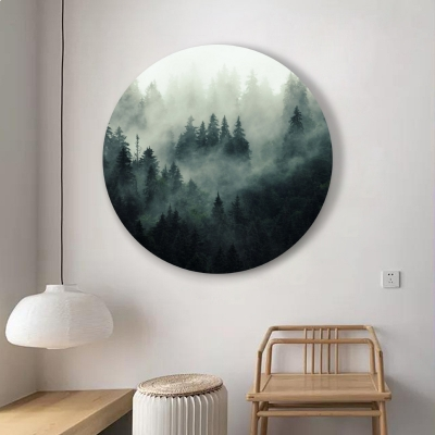 "Круглая картина ""Таинственный лес"""