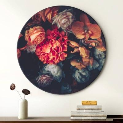 "Круглая картина ""Таинство цветов"""