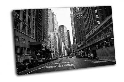 Черно-белая улица Нью-Йорка