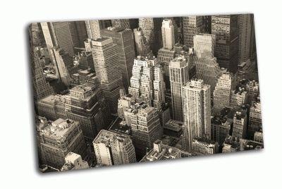 Черно-белый Манхэттен сверху
