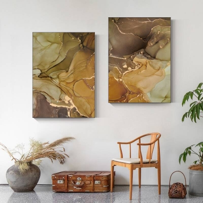 Фисташково-коричневый комплект