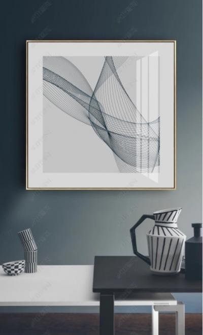 """Картина постер в офис """"Изящные линии"""""""