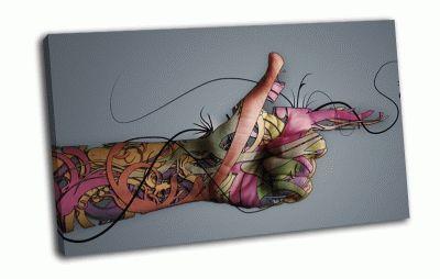 Картина абстракция рука