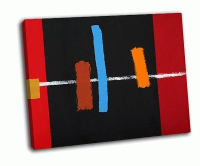 Картина абстрактная живопись в черном