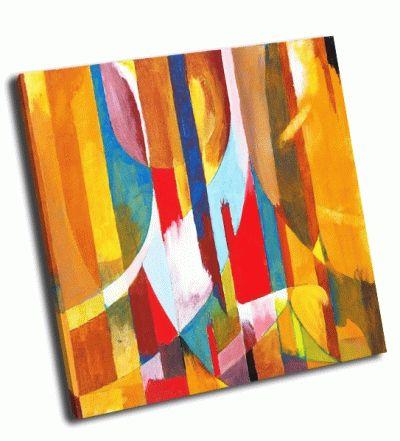Картина абстрактная живопись в желтом