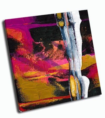 Картина абстрактная живопись вертикаль