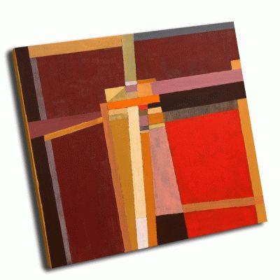 Картина абстрактная красно-коричневая живопись