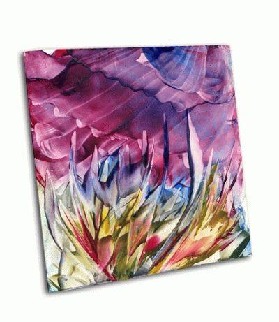 Картина абстрактный цветок