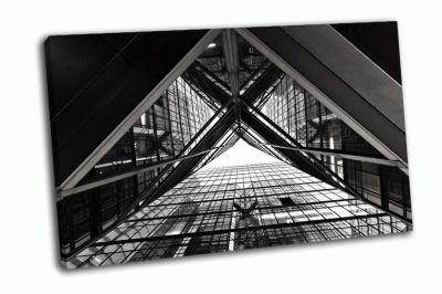 Картина абстрактный образ офисного здания