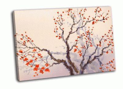 Картина акварель в японском стиле