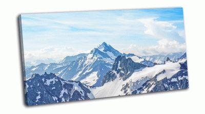Картина альпы от титли пик