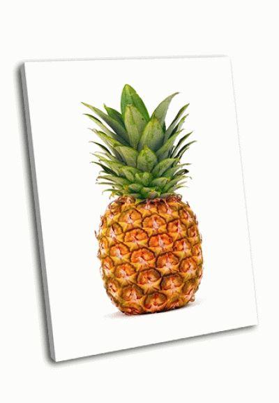 Картина ананас на белом фоне