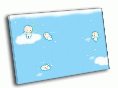 Картина ангелочки на облаках