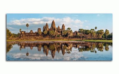 Картина ангкор-ват на закате