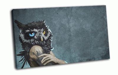 Картина арт-человек сова