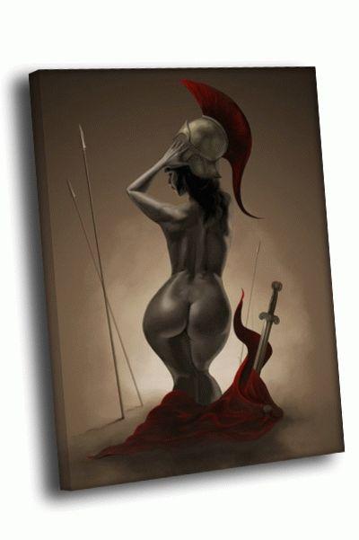 Картина арт мантия, меч, шлем