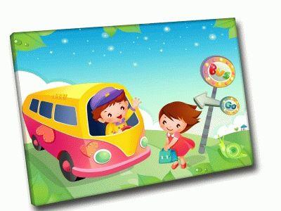 Картина автобус домой
