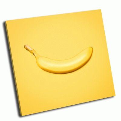 Картина банан на желтом фоне