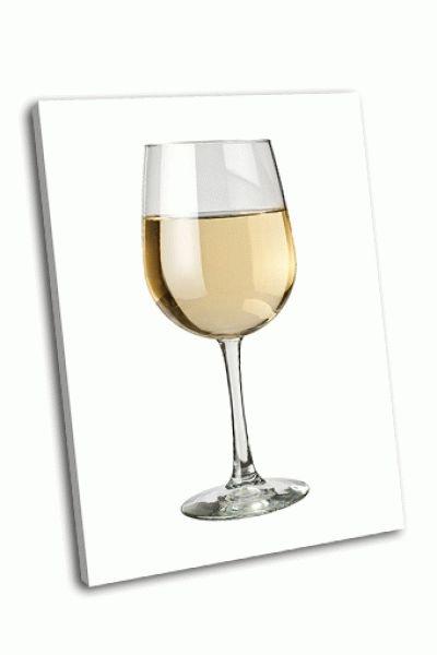 Картина белое вино и стакан