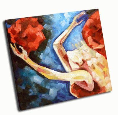 Картина белокурая девушка
