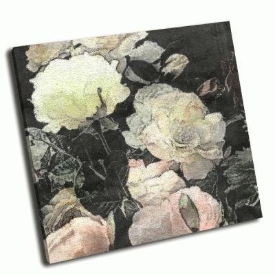 Картина белые и светло-розовые розы