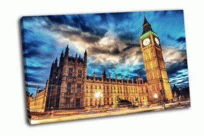 Картина биг-бен и дом парламента