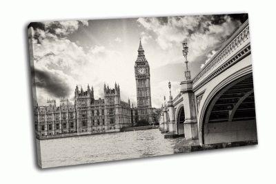 Картина биг-бен и вестминстерский дворец