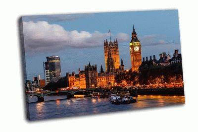 Картина биг-бен и вестминстерский мост