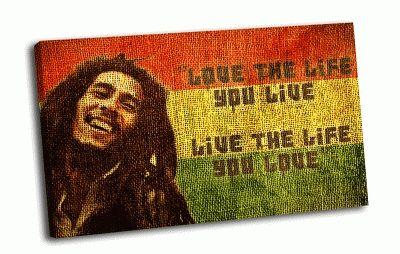 Картина bob marley - love the life