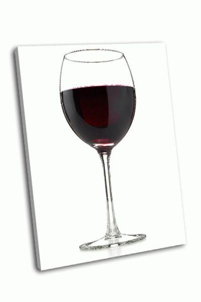 Картина бокал красного вина