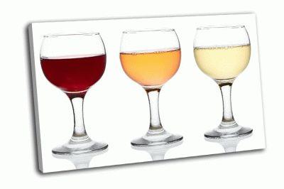 Картина бокалы вина