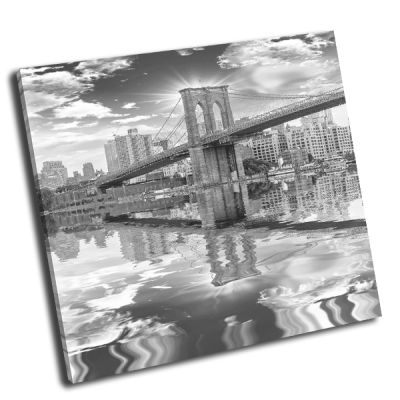 Картина бруклинский мост через пролив ист-ривер
